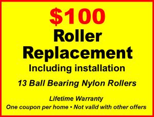 garage door repair coupons to 100 dollar garage door roller replacement including installation