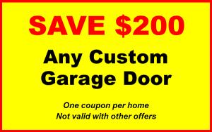 new garage door coupons to save 200 dollars off any custom garage door
