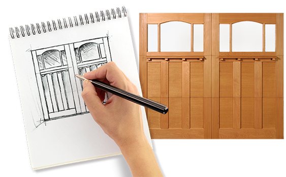 aladdin helps you design custom garage doors for your home