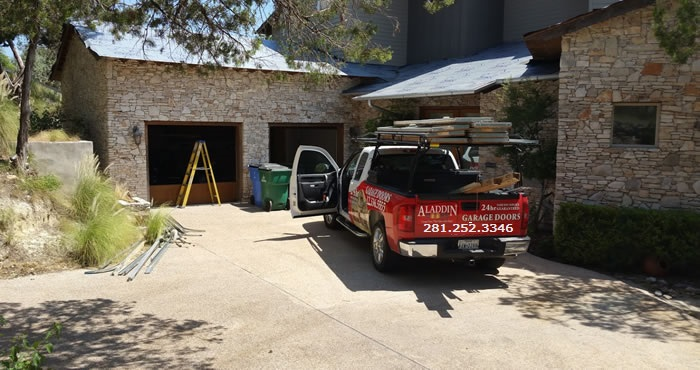new garage door installation in houston by a family owned garage door company