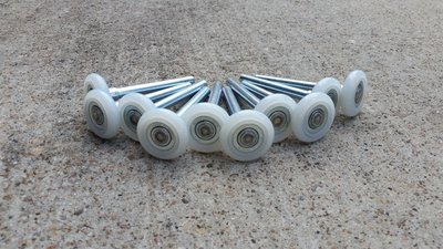 nylon garage door rollers are superior and quieter than metal or rubber rollers