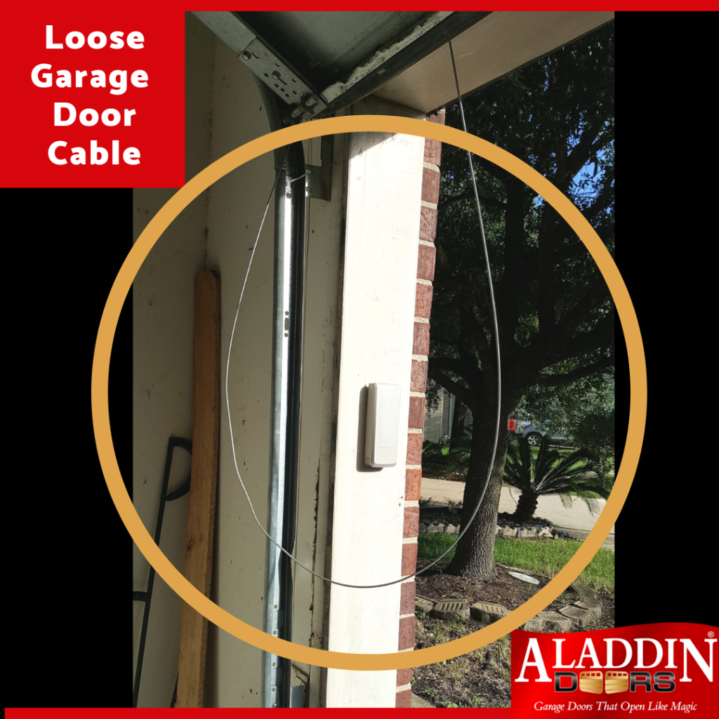 garage door cables loose; how to fix a loose garage door cable; why is the cable loose on my garage door; garage door repair